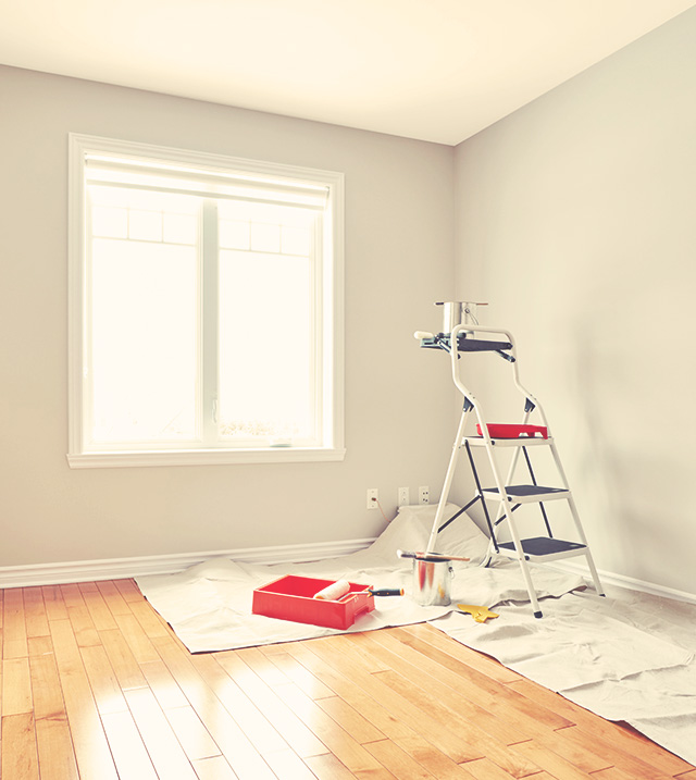 Painting walls in the house