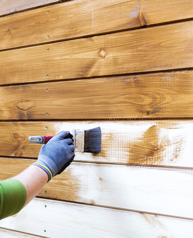 Painting deck and wood wall